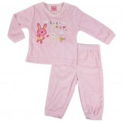 Pyjama lapin - bébé fille - rose clair