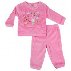 Pyjama lapin - bébé fille - rose foncé