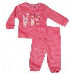 Pyjama lapin - bébé fille - rouge