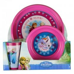Reine des neige - coffret vaisselle- fille-rose