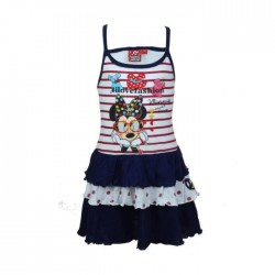 Robe Minnie - fille - bleu marine