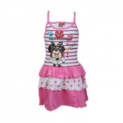 Robe Minnie - fille - rose