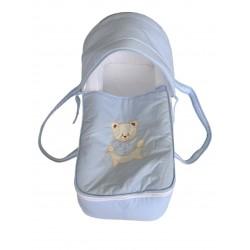 Couffin bleu bébé