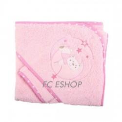Parure de bain nounours rose bébé fille