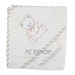 Parure de bain nounours beige bébé