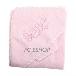 Sortie de bain bébé fille rose