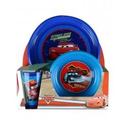 Cars-coffret vaisselle-garcon-bleu