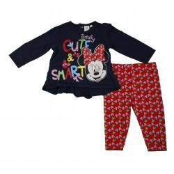 Minnie - ensemble deux pièces - bébé fille - bleu marine et rouge