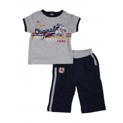 Mickey - ensemble deux pièces tee shirt et pantalon - bébé garçon - gris et bleu marine
