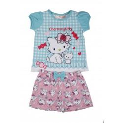 Charmy Kitty - ensemble deux pièces - tee shirt et short - bébé fille - bleu turquoise