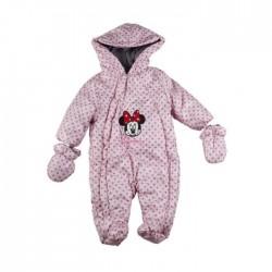 Minnie - combinaison intérieur polaire - bébé fille - rose