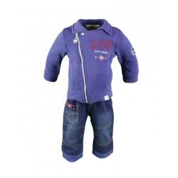 Lee Cooper - ensemble deux pièces gilet et pantalon - bébé garçon - bleu