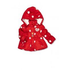 Lee Cooper - Parka à capuche - bébé fille - rouge