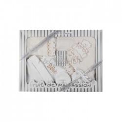 Coffret naissance (0-3 mois) bébé 8 pièces beige