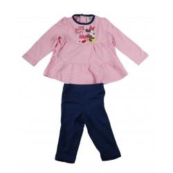 Minnie - ensemble deux pièces tee shirt manche longue et pantalon - bébé fille - rose