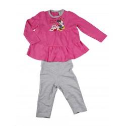Minnie - ensemble deux pièces tee shirt manche longue et pantalon - bébé fille - fuschia