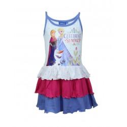 Disney la reine des neiges - robe - fille - bleu