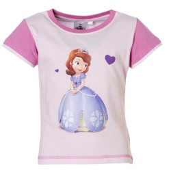 Princesse Sofia - tee shirt - fille - rose
