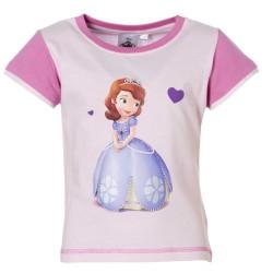 Princesse Sofia - tee shirt - fille - rose