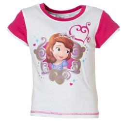 Princesse Sofia - tee shirt - fille - blanc