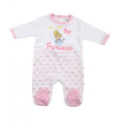 Disney princesse grenouillère bébé fille blanc et rose