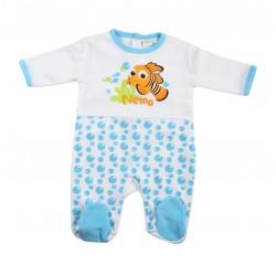 grenouillère bébé Némo blanc et bleu