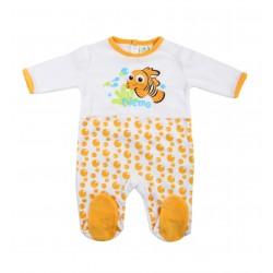 Grenouillère bébé Némo blanc et orange