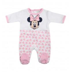 Minnie Grenouillère bébé fille blanc et rose