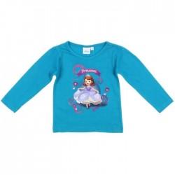 Tee shirt fille Princesse Sofia bleu