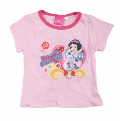 Tee shirt fille Disney princesses rose