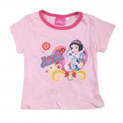 Tee shirt fille Disney princesses rose