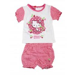 Ensemble deux pièces bébé fille Hello Kitty fuschia