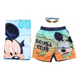 Serviette maillot de bain et lunette garçon Mickey