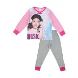 pyjama polaire fille Violetta rose