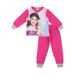 Pyjama polaire fille Violetta fuschia