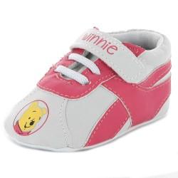 Chaussure bébé fille Winnie l'ourson gris rouge
