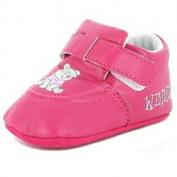 Chaussure bébé fille Winnie l'ourson fuschia