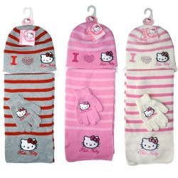 Bonnet gant et écharpe fille Hello Kitty