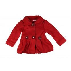Manteau effet daim - fille - rouge