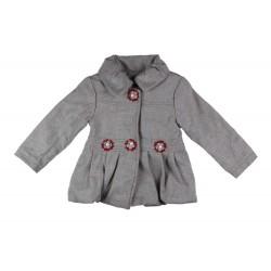 Manteau fille effet daim gris
