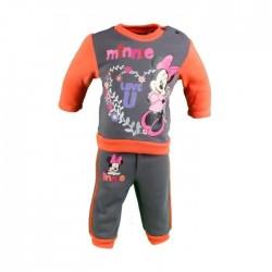 Ensemble deux pièces sweat et pantalon bébé fille Minnie gris anthracite