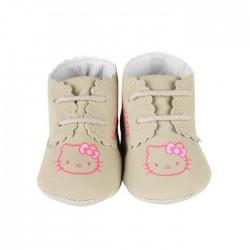 Chaussure à lacet Hello Kitty bébé fille camel