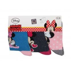 Lot de trois paires de chaussettes fille Minnie