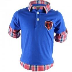 Chemise polo garçon bleu royal