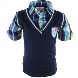 Chemise polo garçon bleu marine