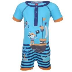Barboteuse motif pirate bébé garçon bleu