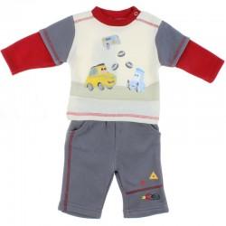 Ensemble deux pièces Disney Cars sweat pantalon bébé garçon beige