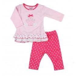 Pyjama deux pièces nounours bébé fille fuschia