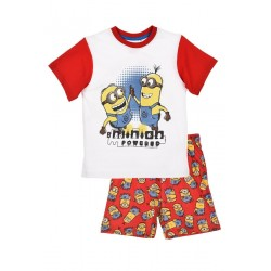 Ensemble pyjama les Minions pour enfant rouge