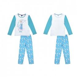 Ensemble pyjama La reine des neiges pour fille bleu turquoise